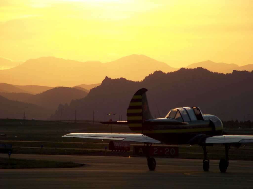 Sunset at the airshow