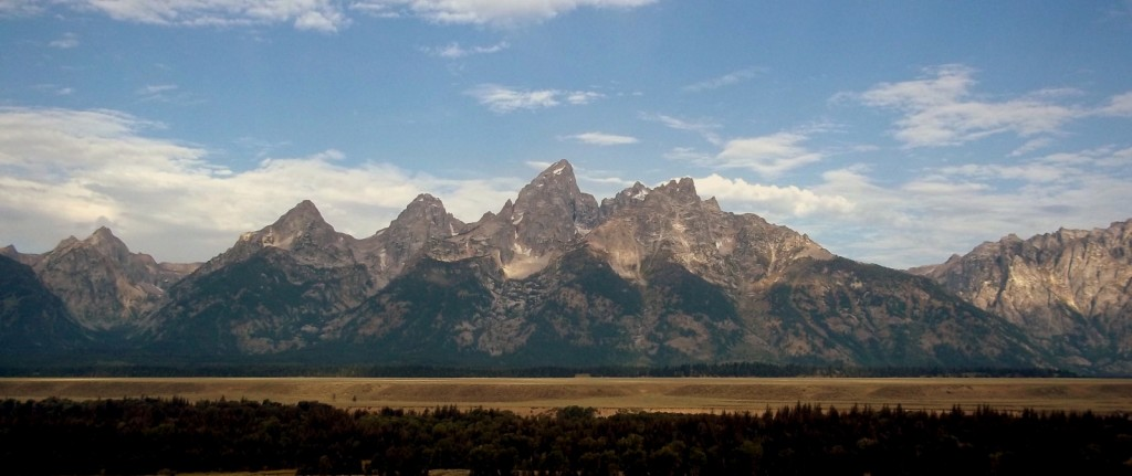 The star of the show; the Grand Teton Mountains.