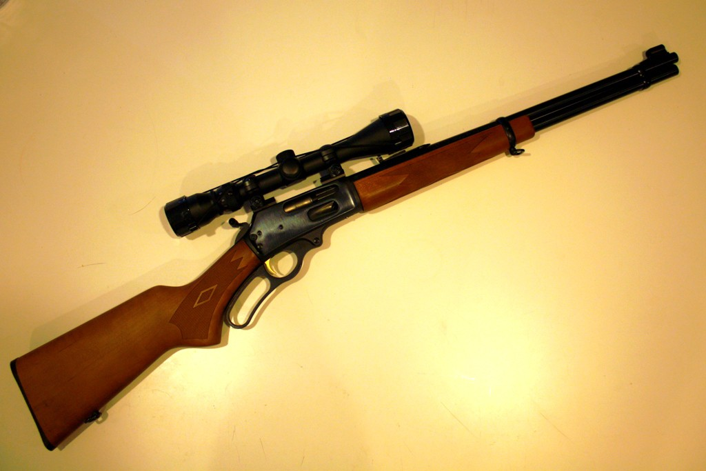 An example of a lever-action rifle